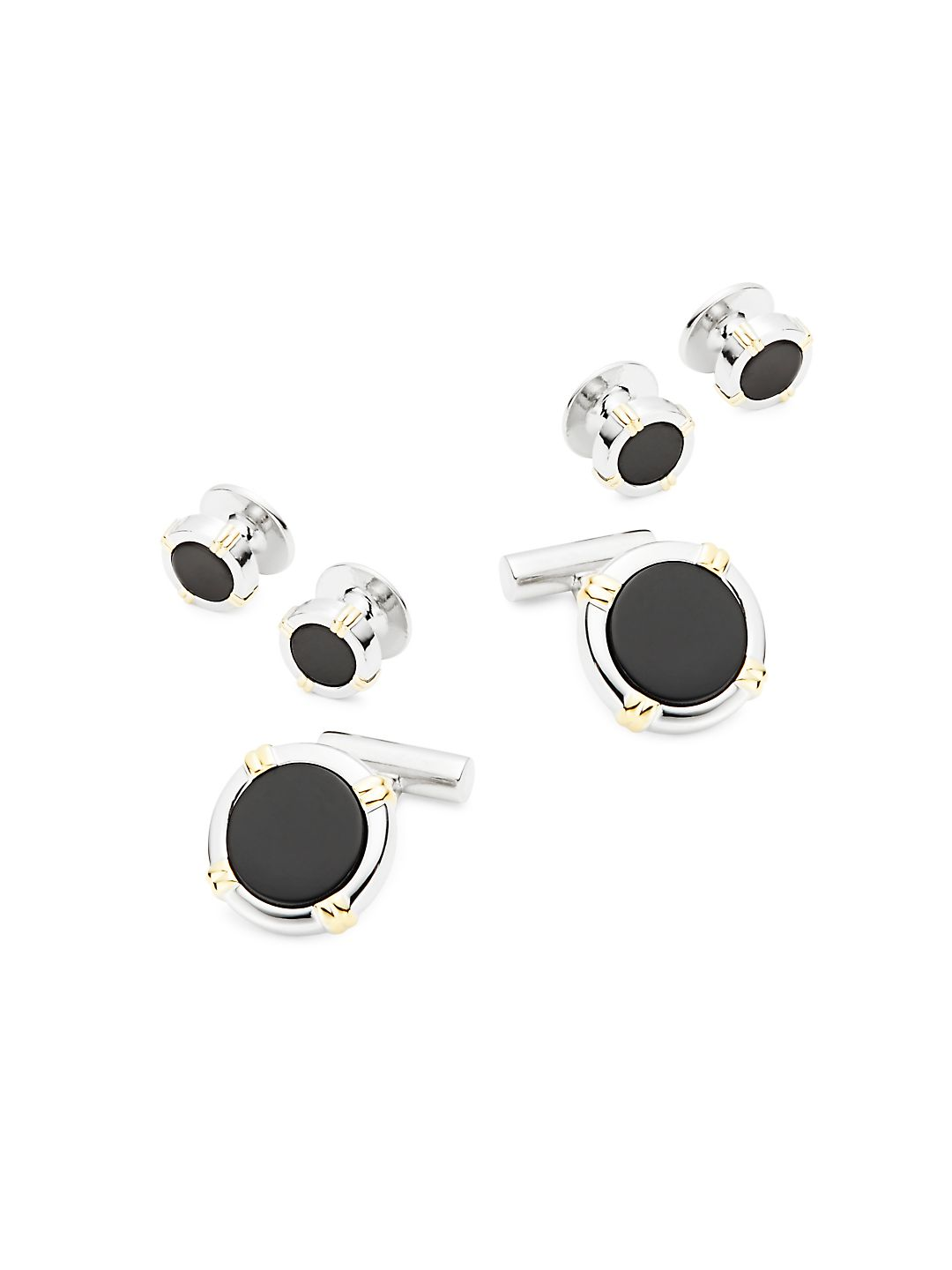 Cuff Links and Tie-Clip Set