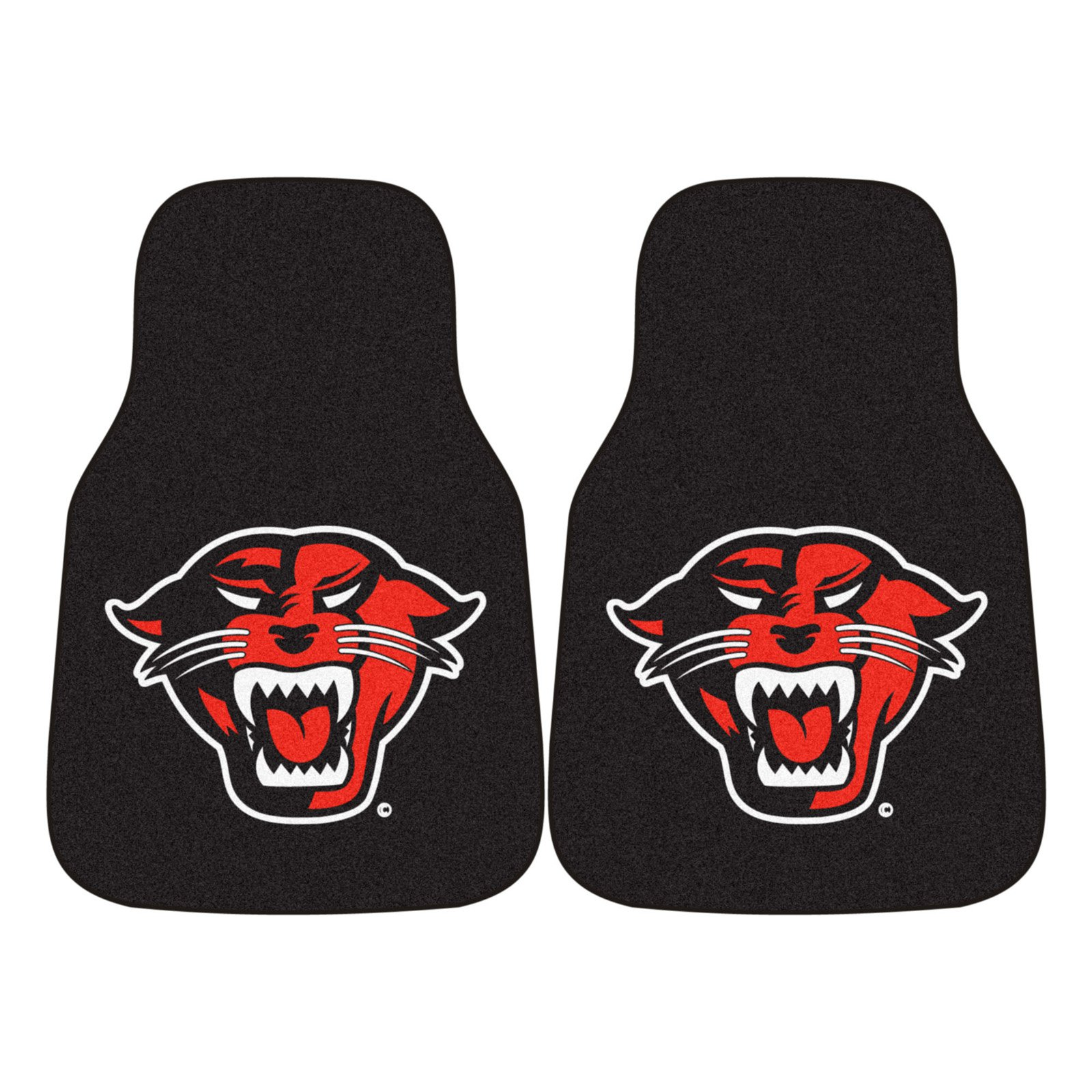 Fan Mats NCAA Carpeted Car Mat - Set of 2