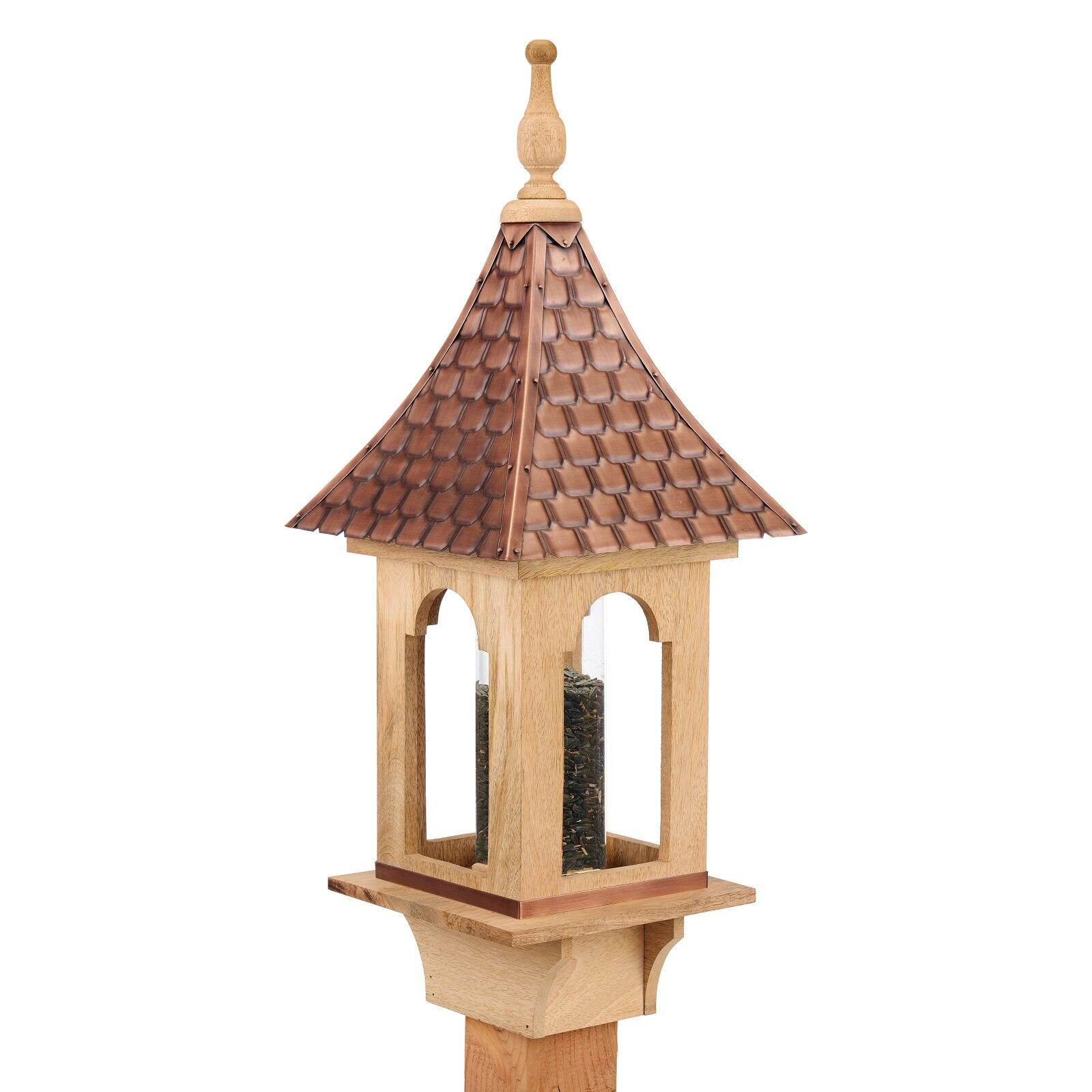 Villa Bird Feeder With Pure Copper Roof Large 4 Lb Seed Capacity By Good Directions Walmart Com Walmart Com