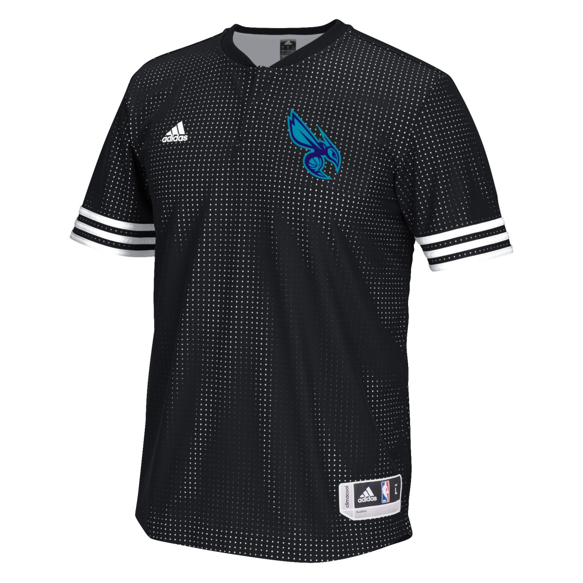 Charlotte Hornets Adidas 2015 NBA Men's On-Court Authentic S/S Shooting Shirt