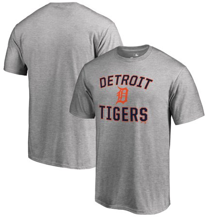 Detroit Tigers Big & Tall Victory Arch T-Shirt - Ash