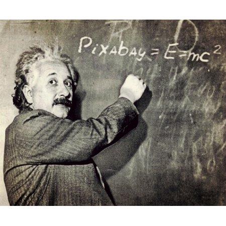Laminated Poster Einstein Formula Professor Nobel Prize Winner Humor Poster Print 24 X 36