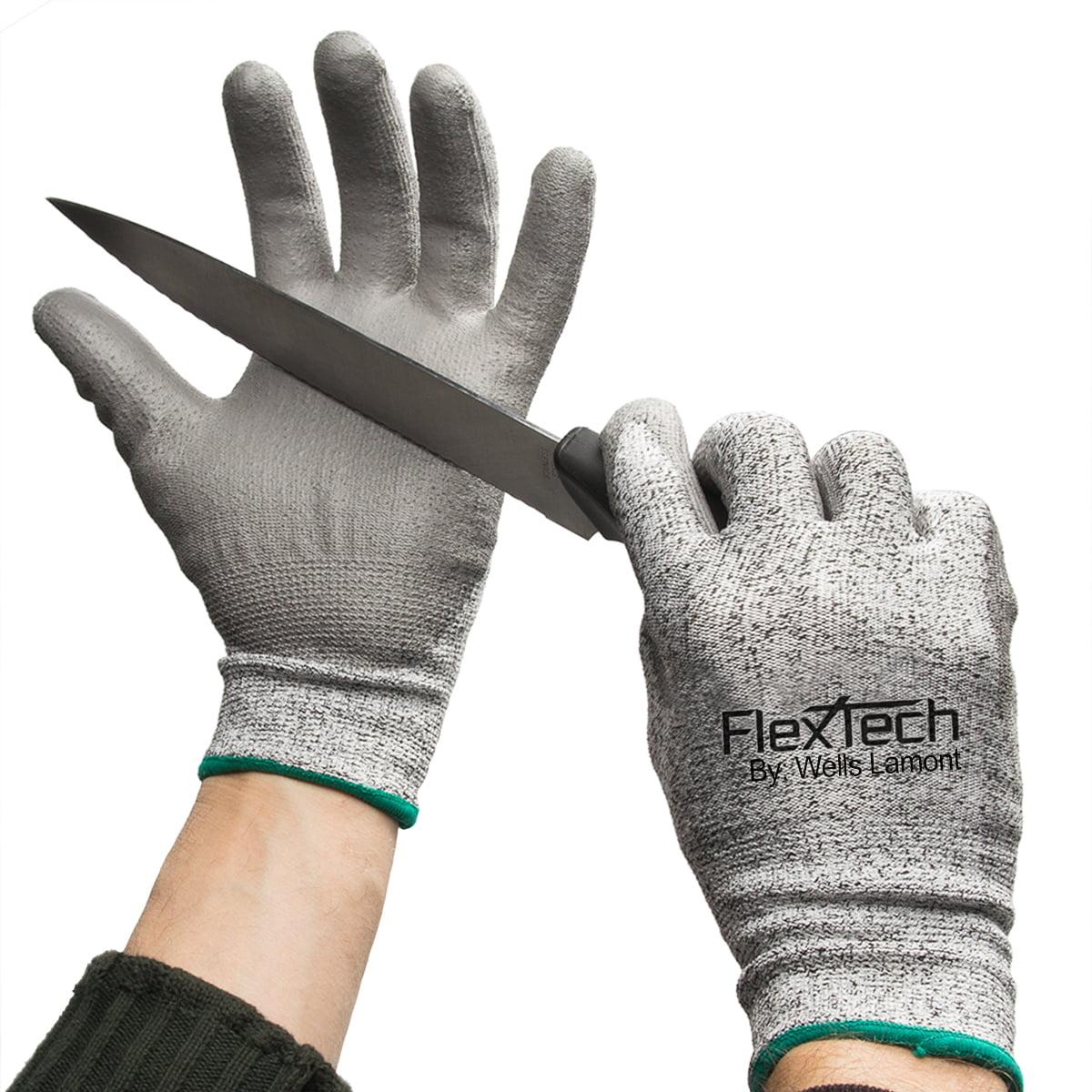 3 Pairs Of Wells Lamont Flextech Cut Resistant Gloves Work HDPE High Performance