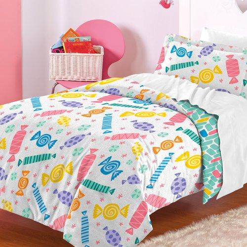 Zoomie Kids Madelyn 100pct Cotton 2 Piece Reversible Comforter Set