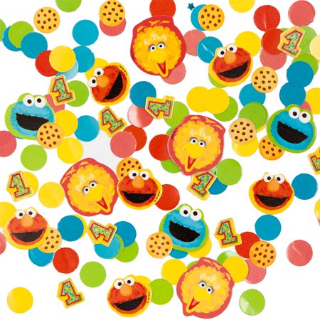 Sesame Street 1st Birthday Confetti - Party Supplies