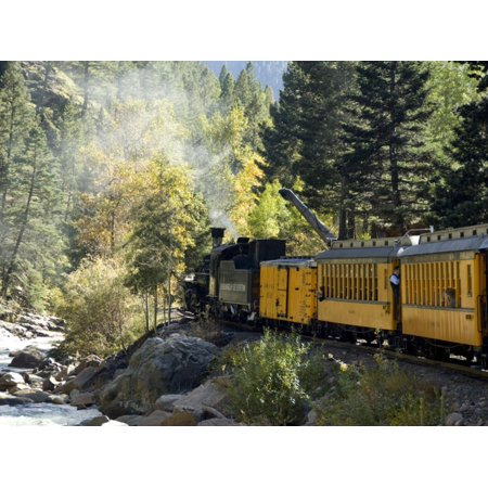 The Narrow Gauge (The Durango & Silverton Narrow Gauge Railroad, Colorado, USA Print Wall Art By Cindy Miller Hopkins)
