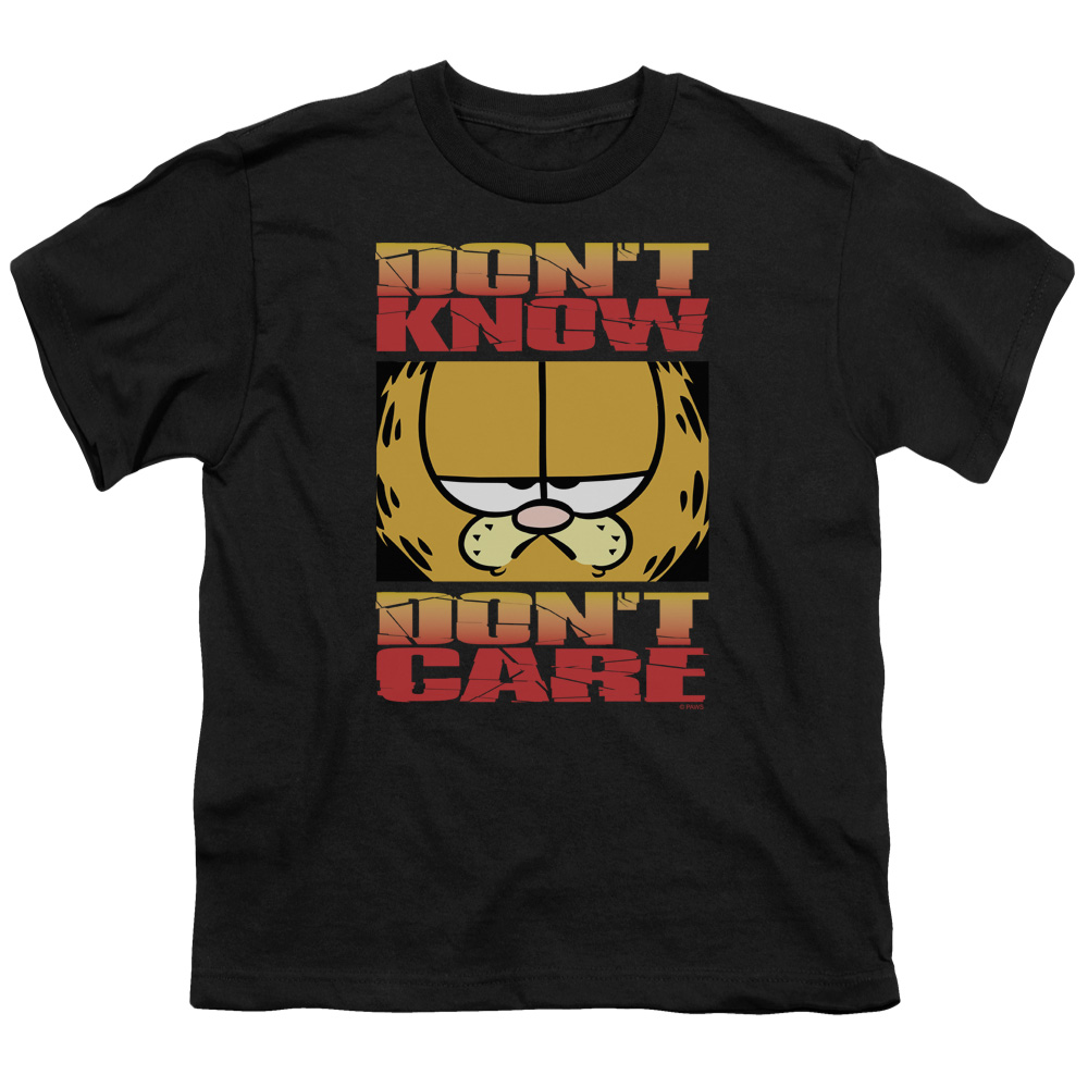 Garfield Don't Know Don't Care Big Boys Shirt