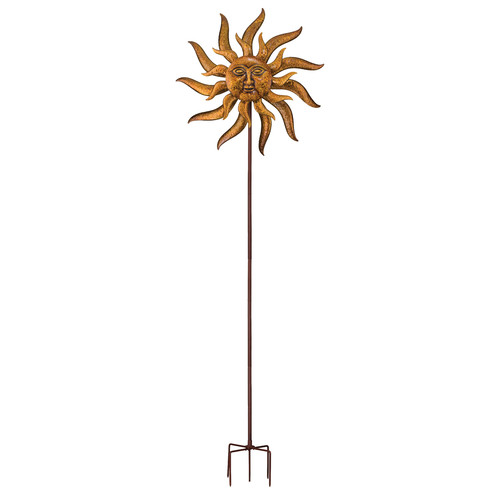 Regal Art & Gift 32'' Sun Face Kinetic Garden Stake by Regal Arts & Gifts