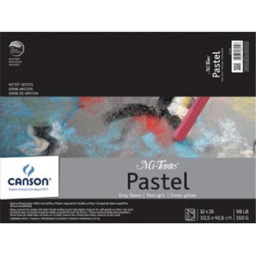 "Canson - Mi-Teintes Paper Pad - 12"" x 16"" - Grays"