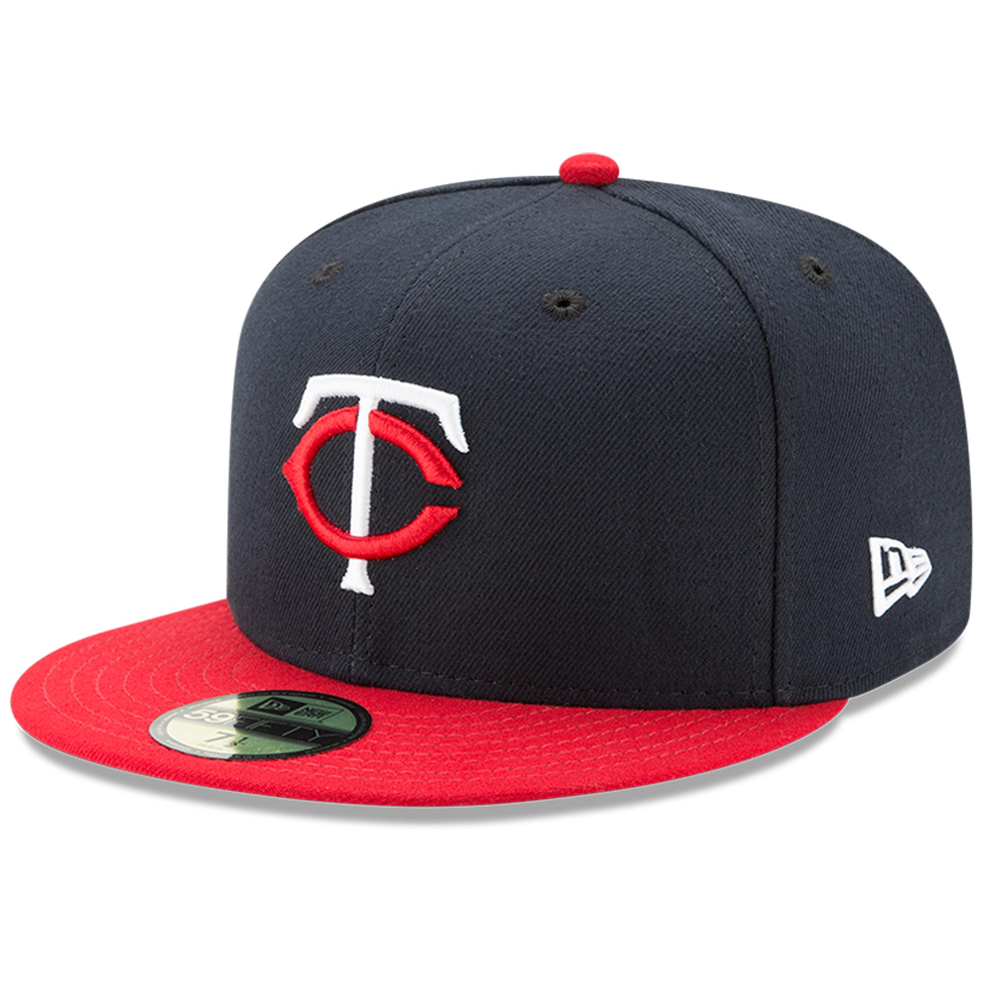 Minnesota Twins New Era Youth Authentic Collection On-Field Road 59FIFTY Fitted Hat - Navy/Red