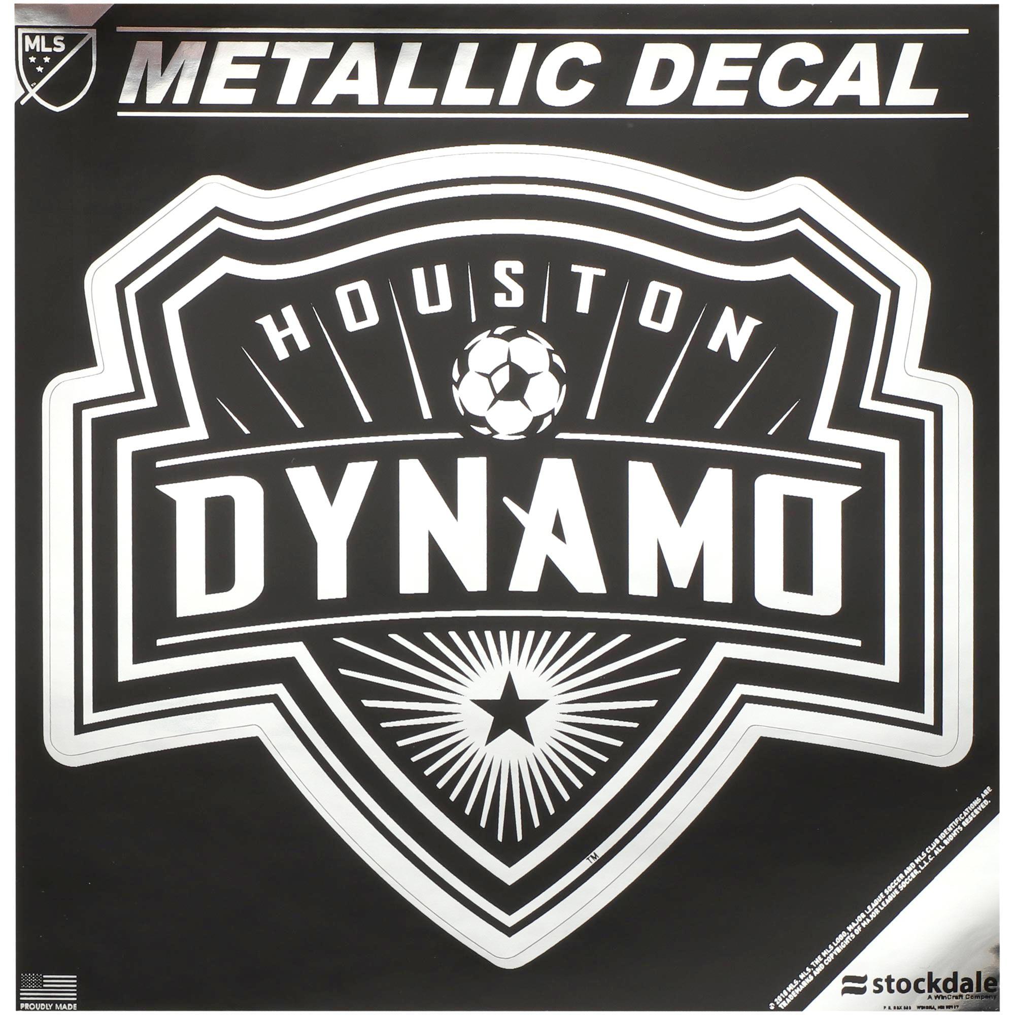 "Houston Dynamo 8"" x 8"" Metallic Decal - No Size"