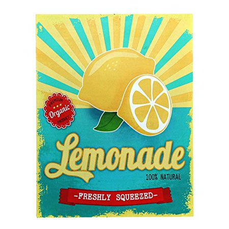 Barnyard Designs Freshly Squeezed Lemonade Retro Vintage Tin Bar Sign Country Home Decor 10