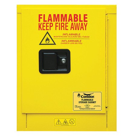 Flammable Liquid Safety Cabinet, 4 gal. CONDOR 45AE90