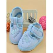 Newborn Girl Boy Soft Sole Crib Toddler Shoes Canvas Sneaker