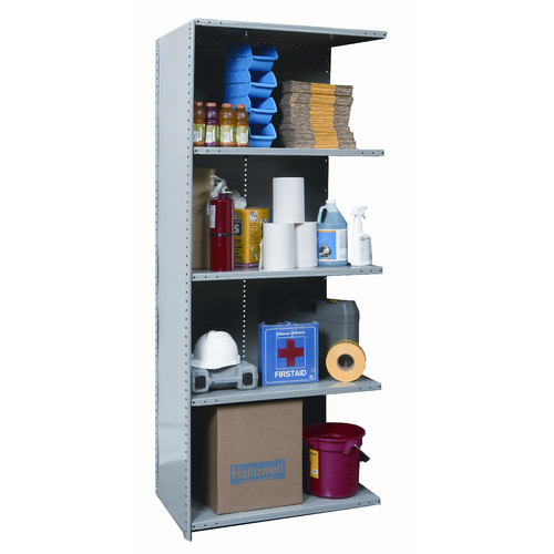 Hallowell Hi-Tech Extra Heavy-Duty Closed Type 87'' H 4 Shelf Shelving Unit Add-on
