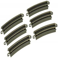 """Bachmann Industries E-Z Track Half Section 14"""" Radius Curved Track (6/card) N Scale"""