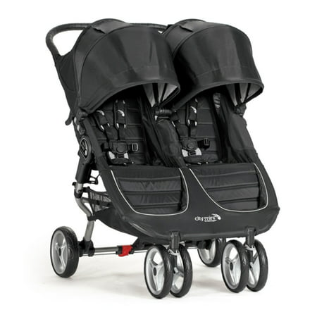 Baby Jogger City Mini Twin Double Stroller Black Grey