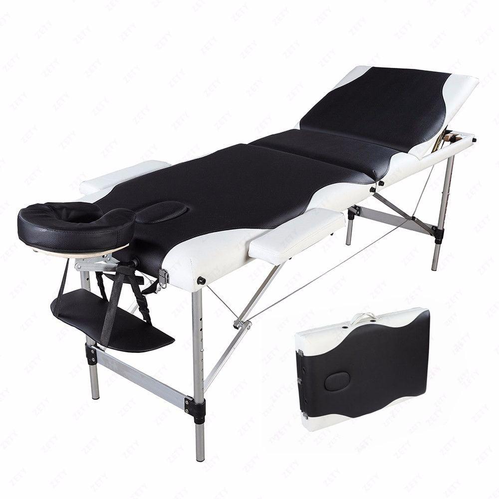 Zimtown 3 Fold Portable Aluminum Massage Facial SPA Table Bed