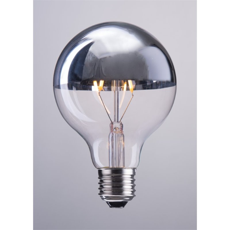 Zuo 2 Watt LED Light Bulb in Half Chrome