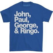 Beatles Men's John, Paul, George & Ringo T-shirt Large Blue