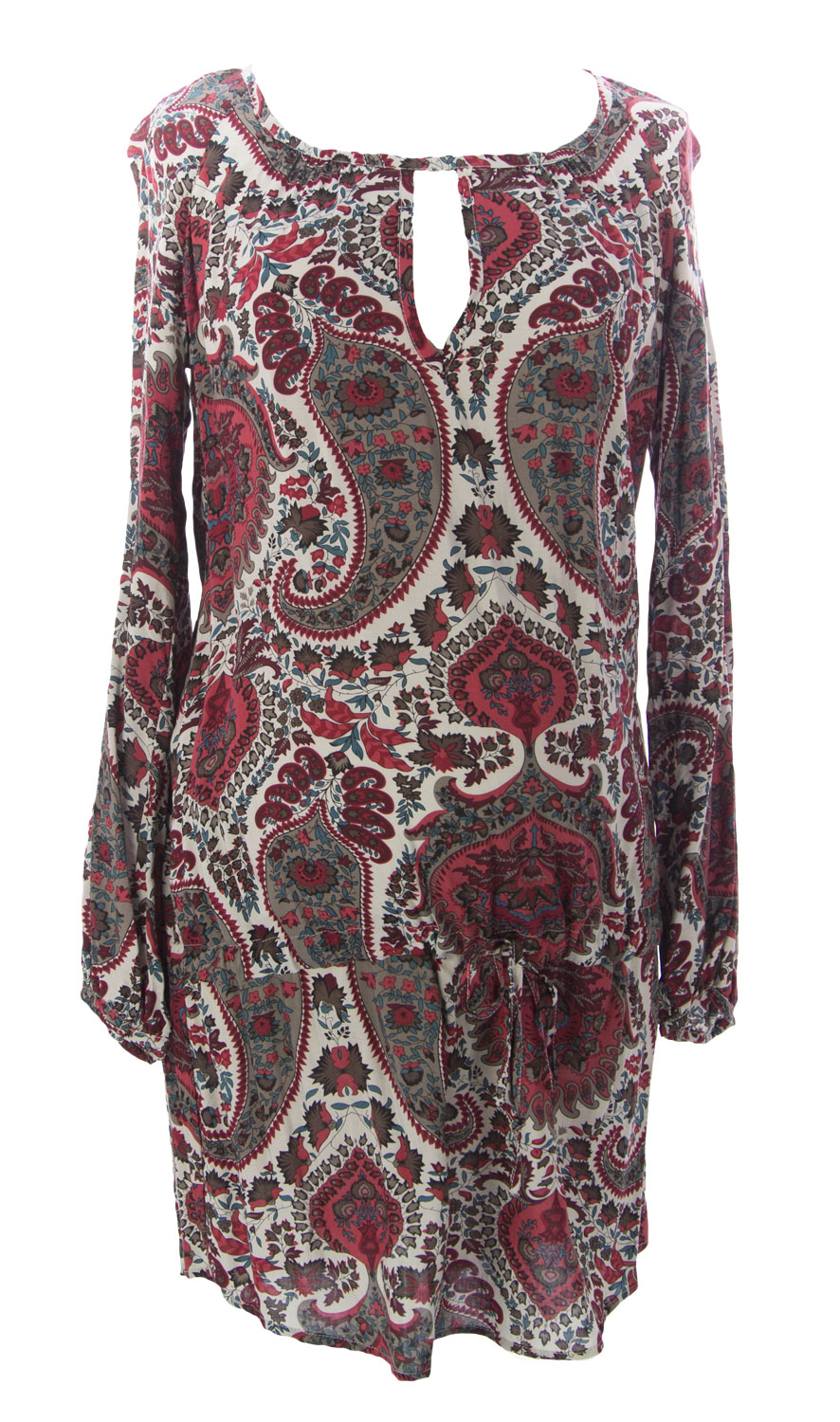 JULES & JIM Maternity Women's Paisley Tunic Top, Medium, Multi-Color