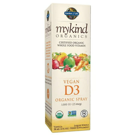 Garden of Life Mykind Organics Vitamin D3 Spray, 2 Fl Oz, Vanilla ()