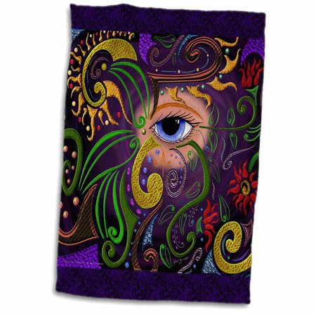 3dRose Udjat 12-4-11 Eye Eyeball Abstract Digital Art - Towel, 15 by 22-inch