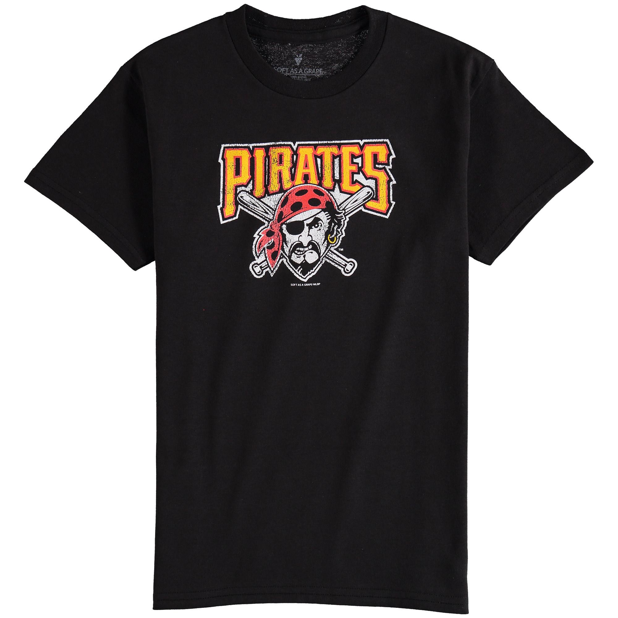 Pittsburgh Pirates Youth Distressed Logo T-Shirt - Black