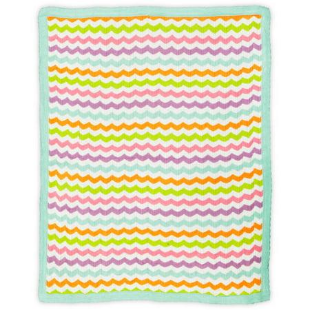 Bananafish Studio Sweet Owl Girl Zigzag Knit Blanket