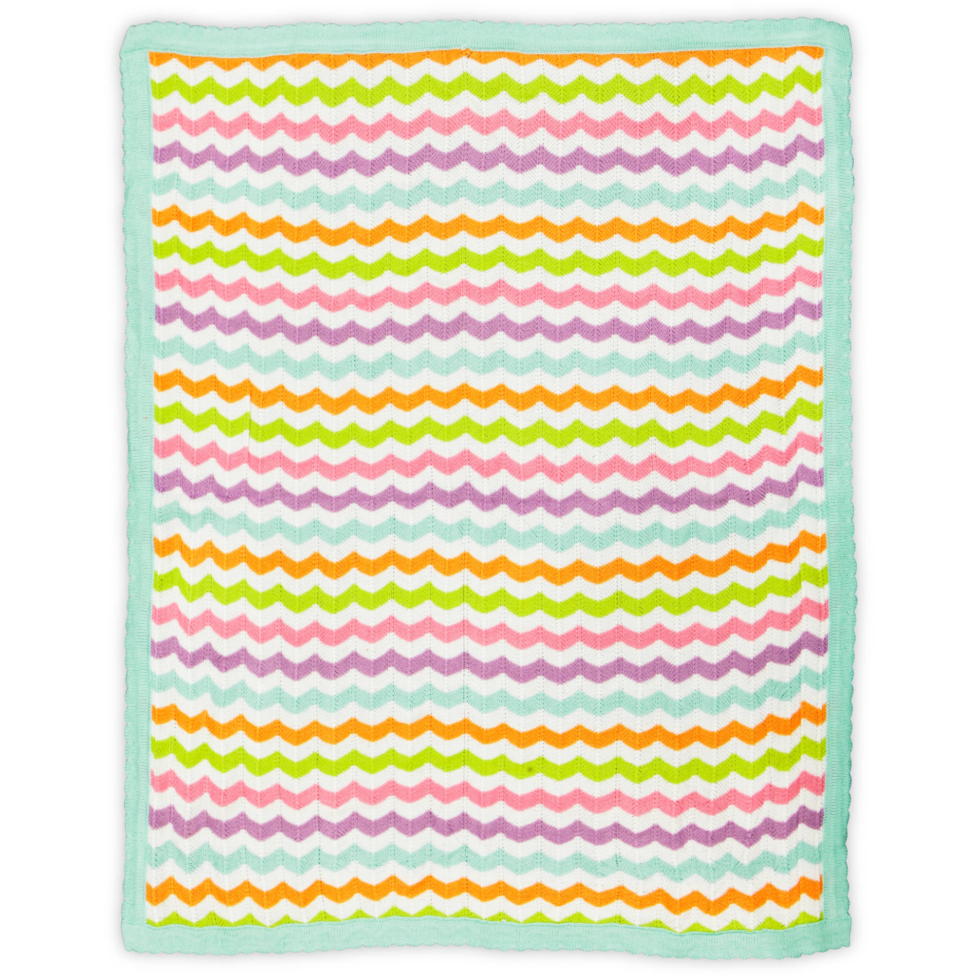 Bananafish Studio Sweet Owl Girl Zigzag Knit Blanket