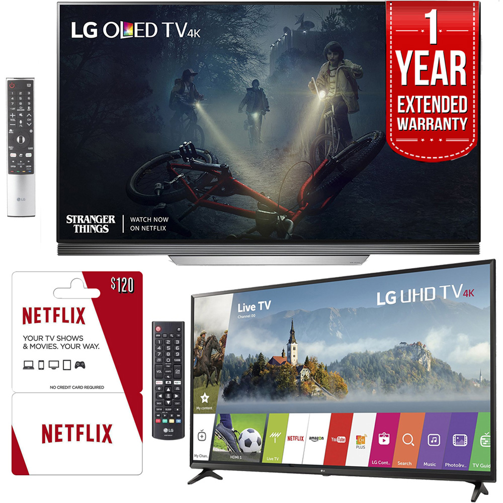"LG OLED65E7P 65"" E7 OLED 4K TV With Bonus 55UJ6300 55"" 4K"