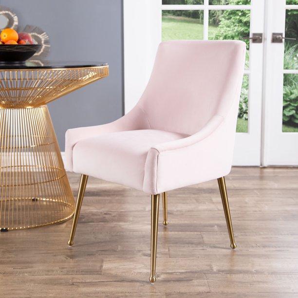 Devon Claire Roxy Velvet Dining Chair Blush Pink Walmart Com Walmart Com