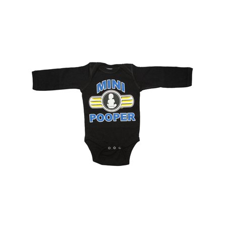"Infants ""Mini Pooper"" Long-Sleeve Bodysuit - Red - 12M - image 1 of 1"