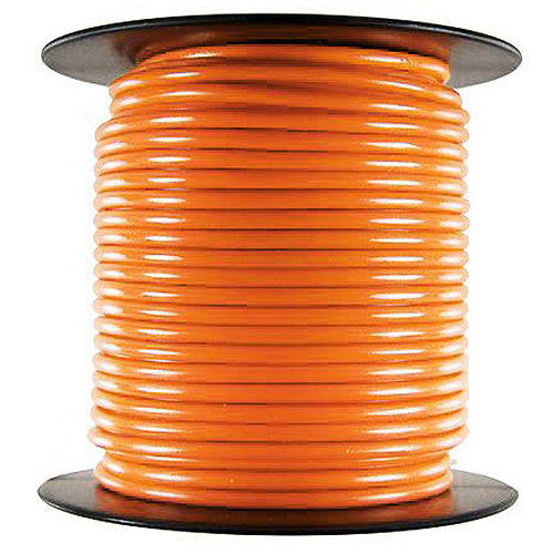 JT&T Products 121C 12 AWG Orange Primary Wire, 100' Spool