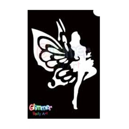 Glimmer Body Art Glitter Tattoo Stencil Dancing Fairy - Fairie Tattoo