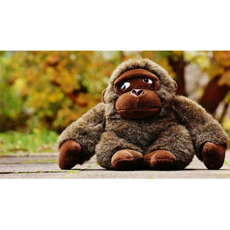 Framed Art For Your Wall Toys Stuffed Animal Soft Toy Gorilla Cute Monkey 10x13 Frame - Cute Monkey Stuffed Animal