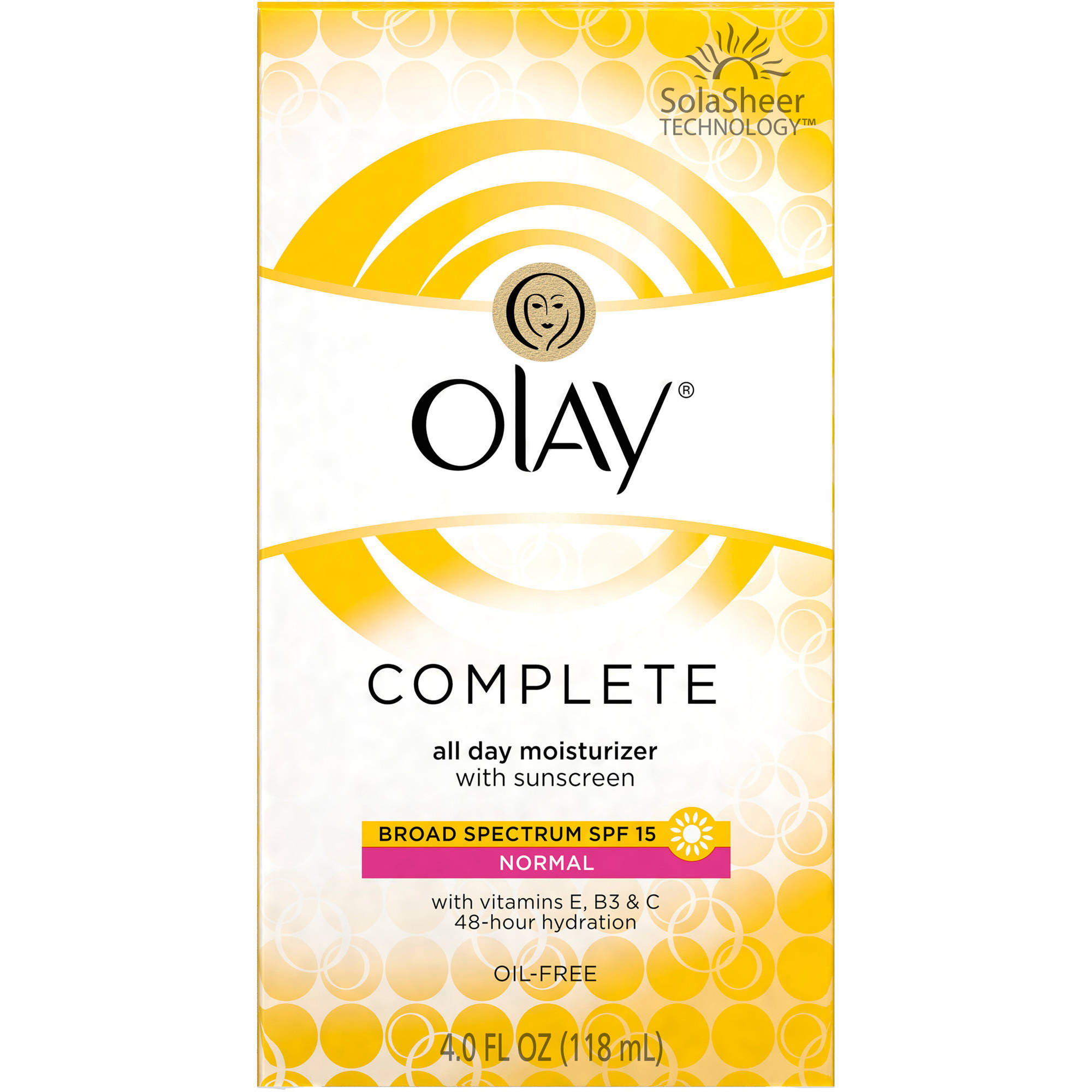 Olay Complete All Day Facial Moisturizer with Sunscreen, SPF 15, 4 fl oz