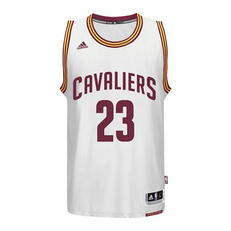 Cleveland Cavaliers Adidas NBA Lebron James #6 Home Swingman Jersey (White) by