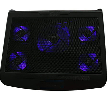 l aptops Cooling Pad with 5 Blue LED Fans For 10''- 15.6