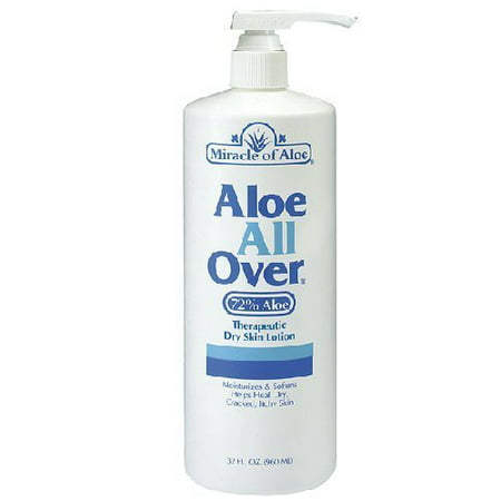32 Ounce Aloe - Aloe All Over Therapeutic Dry Skin Lotion 32 ounce bottle with 72% UltraAloe