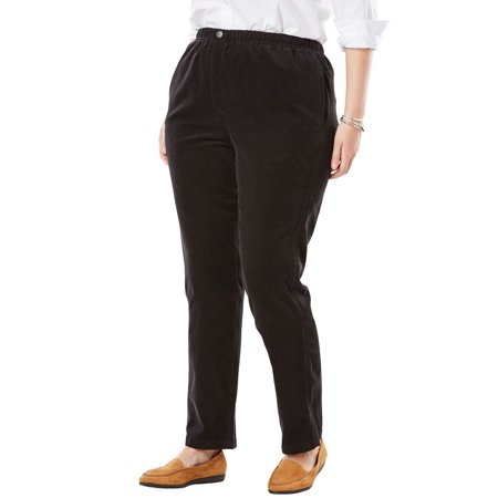 Misses Corduroy Pants (Woman Within Plus Size Comfort Waist Straight Leg Corduroy Pant)