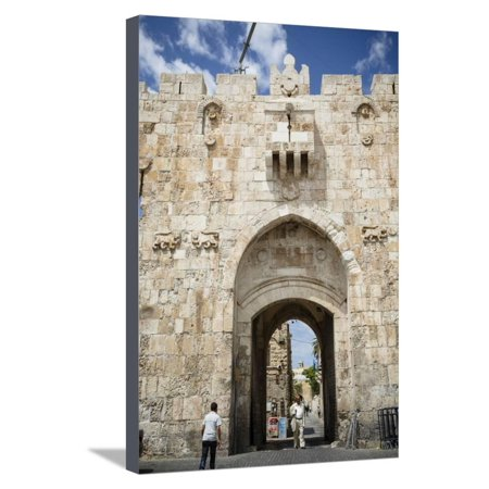 The Lions Gate in the Old City, UNESCO World Heritage Site, Jerusalem, Israel, Middle East Stretched Canvas Print Wall Art By Yadid Levy - Party City Official Site