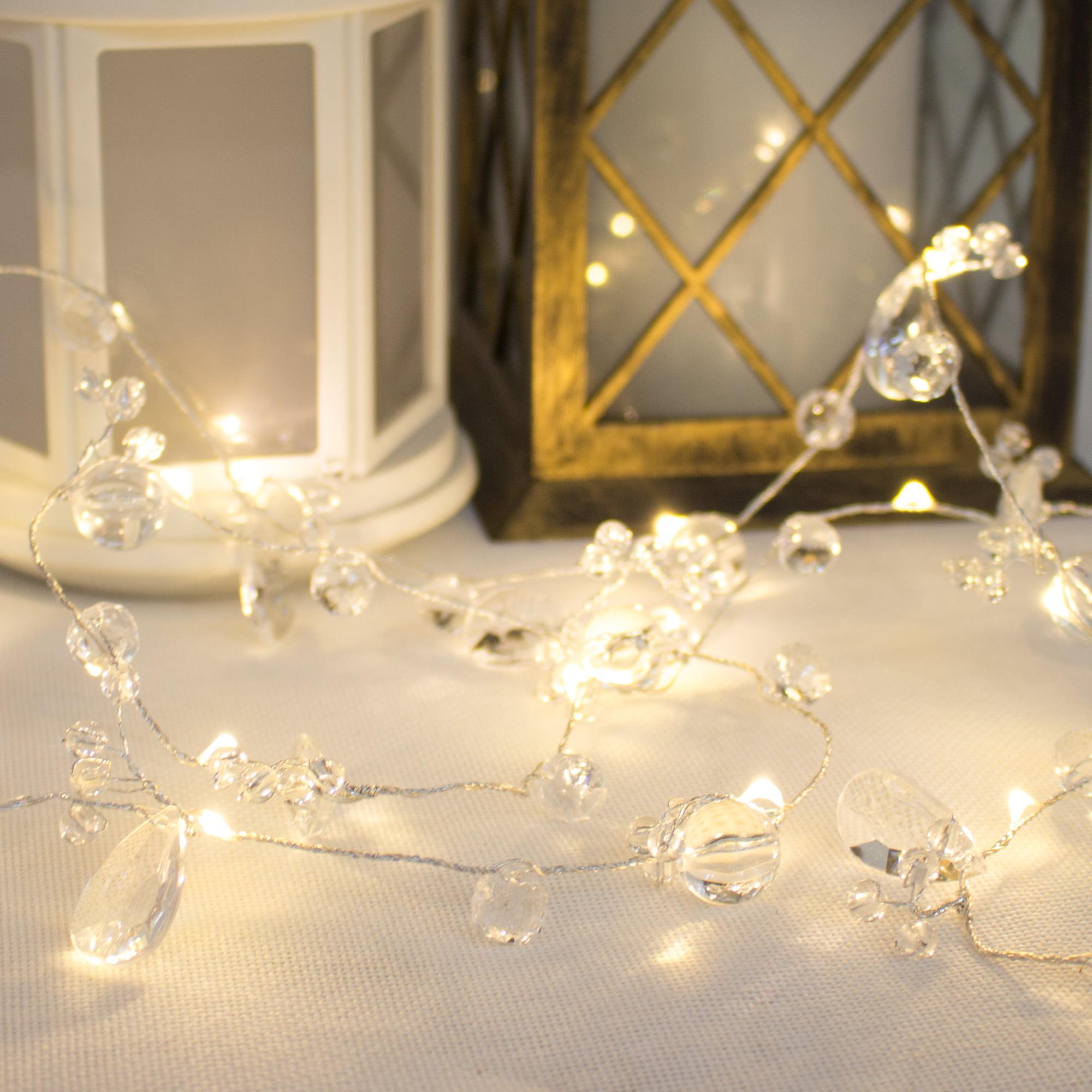 Way to Celebrate LED Lighted Jewel Bead Garland - Walmart.com