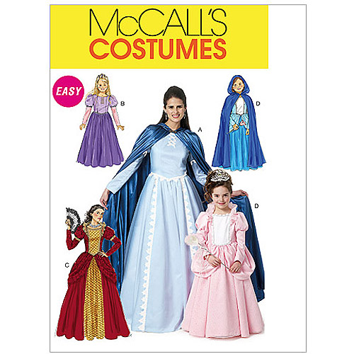 McCall's Misses', Children's and Girls' Costumes, Miss (S, M, L)