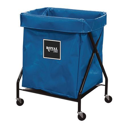 X-Frame Cart,8 Bu,Blue Vinyl ROYAL BASKET TRUCK G08-BBX-XFA-3ONN