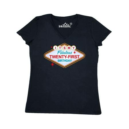 Las Vegas 21st Birthday Women's V-Neck T-Shirt](Halloween Contests Las Vegas)