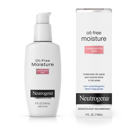 Neutrogena Oil Free Lotion Face Moisturizer   4Fl Oz  Combination Skin