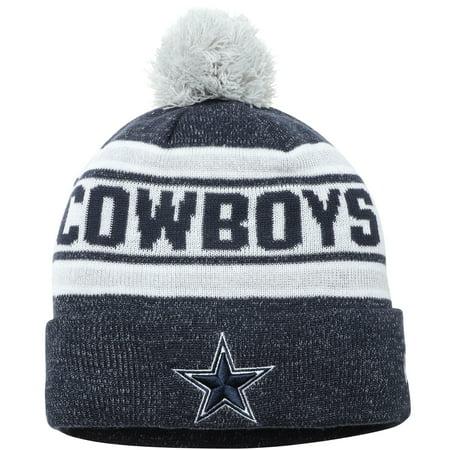 Dallas Cowboys New Era Toasty Cover Cuffed Pom Knit Beanie - Navy - OSFA (Dallas New Era Beanie)
