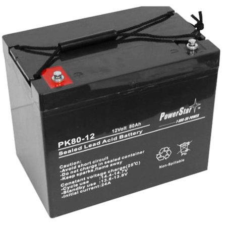 powerstar ps12 80 51 12v 70ah agm sealed battery for ub12750i4alt1 ub12750 group 24 2 years. Black Bedroom Furniture Sets. Home Design Ideas