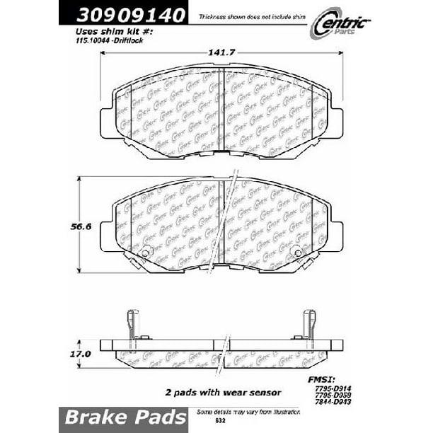 Rides2Racers StopTech Sport Brake Pads 2003-2017 Honda